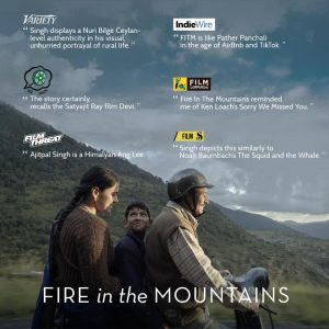 Fire in the mountains